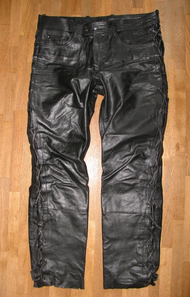 louis herren schn r lederjeans biker lederhose in schwarz. Black Bedroom Furniture Sets. Home Design Ideas