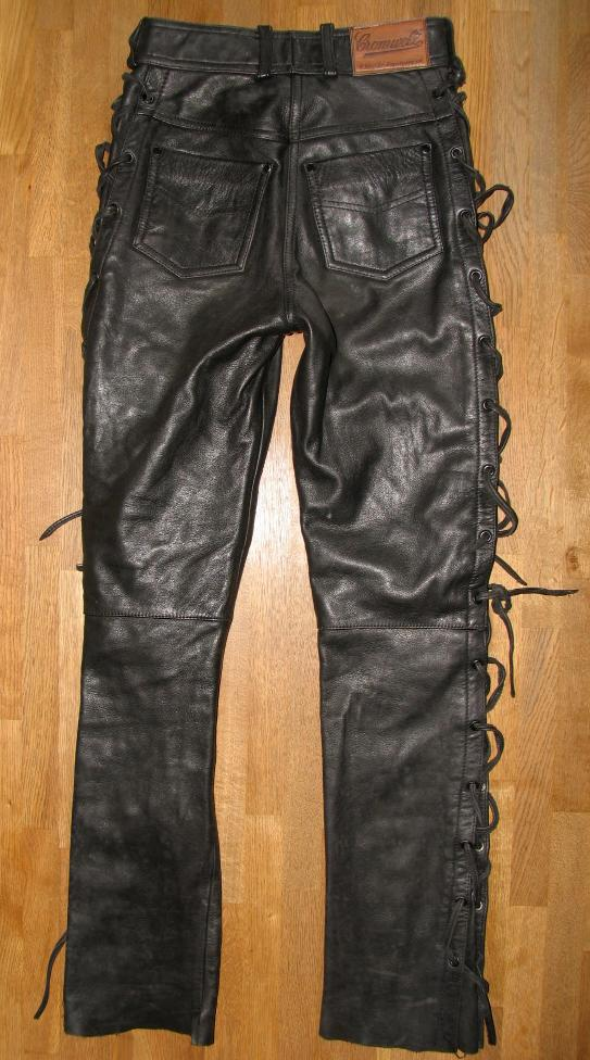 cromwell damen schn r lederjeans biker lederhose in schwarz gr 34 ebay. Black Bedroom Furniture Sets. Home Design Ideas