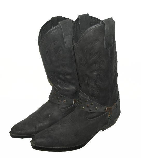 coole herren western stiefel cowboy boots in schwarz. Black Bedroom Furniture Sets. Home Design Ideas