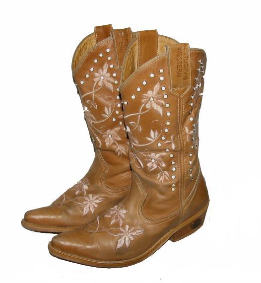 kentucky s damen western stiefel cowboy boots in beige. Black Bedroom Furniture Sets. Home Design Ideas