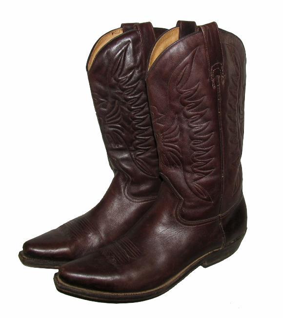 buffalo herren western stiefel cowboy boots in dunkel braun gr 43 ebay. Black Bedroom Furniture Sets. Home Design Ideas