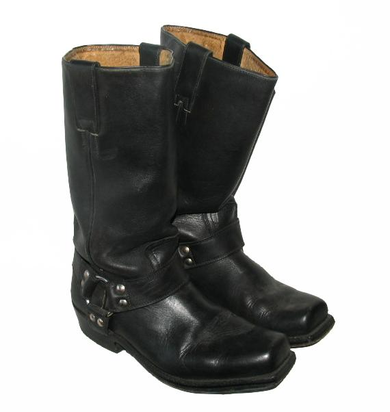 buffalo herren biker stiefel western boots in schwarz gr 42 ebay. Black Bedroom Furniture Sets. Home Design Ideas